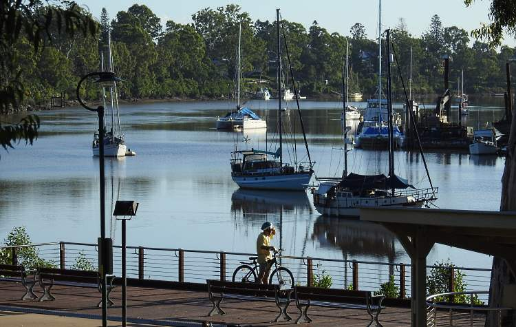 the area that was once the Maryborough wharves