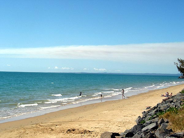 The beach in Hervey Bay during winter